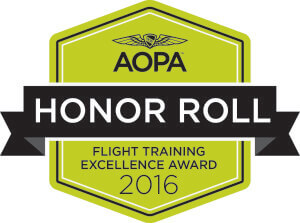 AOPA, flight training, honor, aerodynamic
