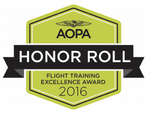 flight school, award, aopa