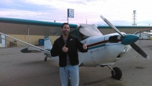 first solo flight, Citabria, 7ECA