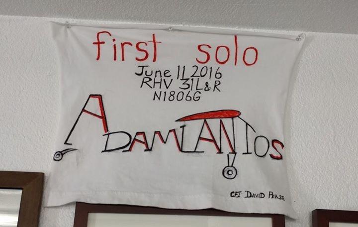 first solo, citabria, 7eca