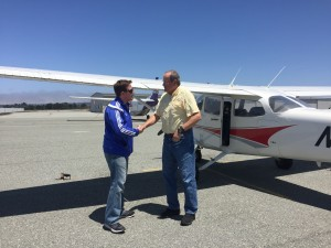 Solo flight, Cessna, Monterey