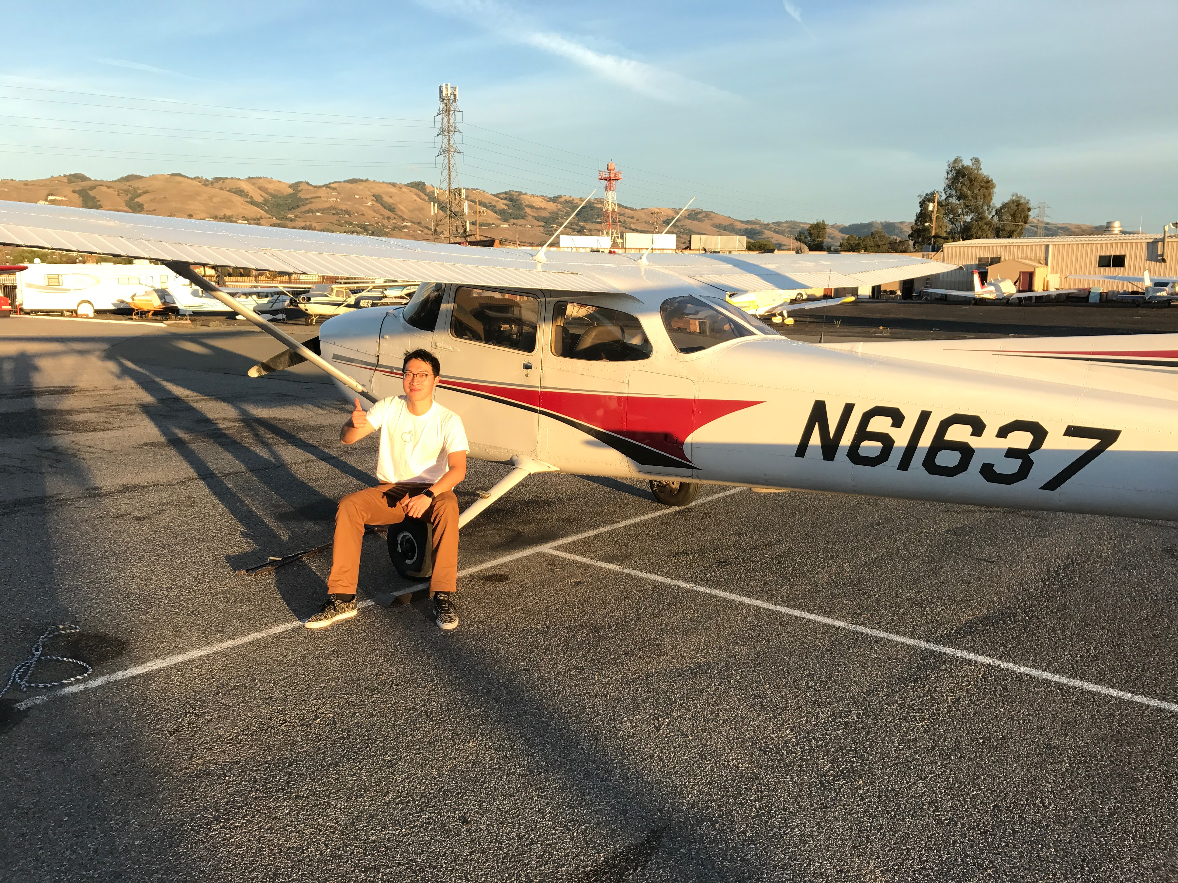 first solo, solo flight, Cessna 172
