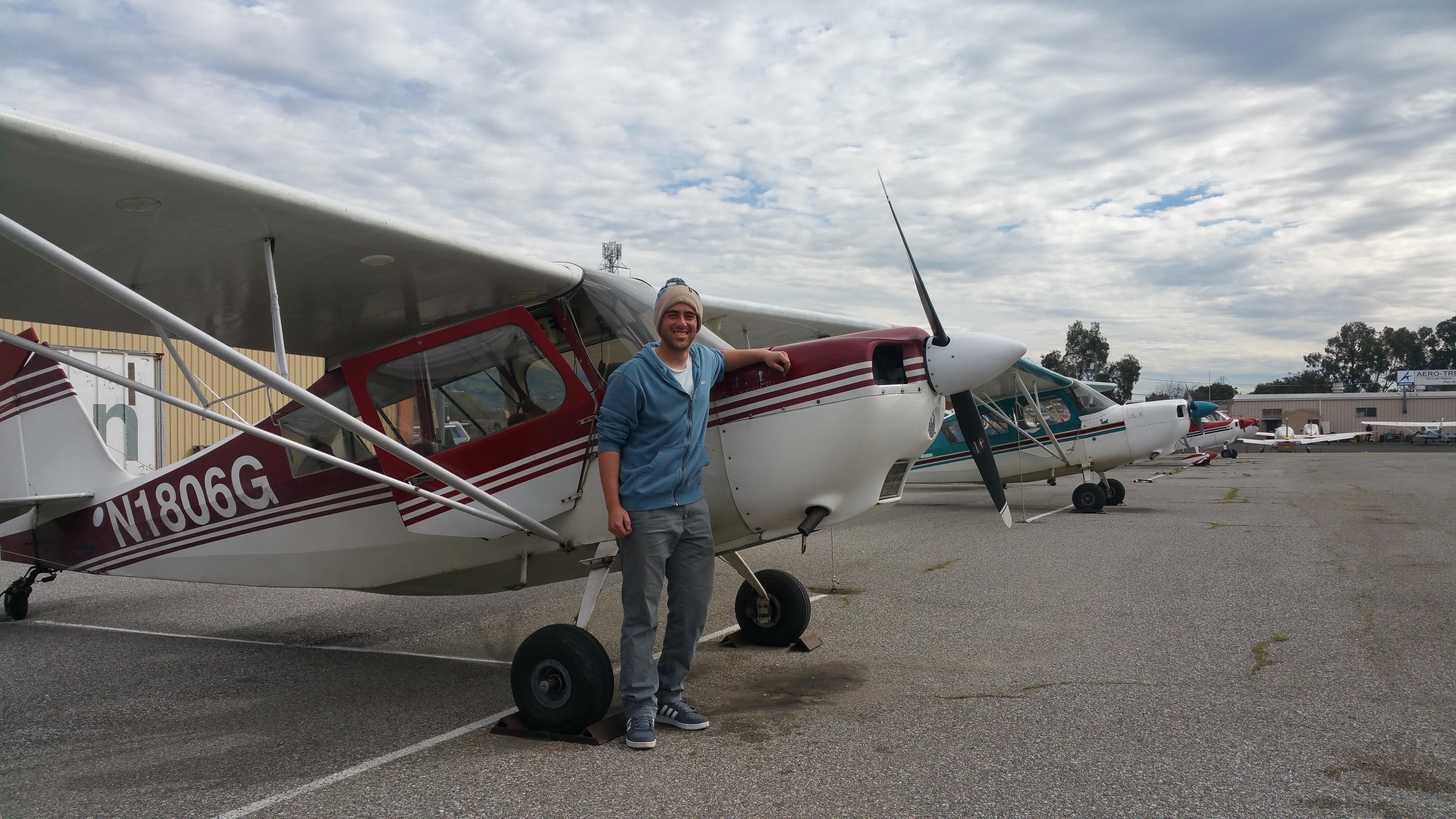 citabria, 7eca, solo flight, krhv