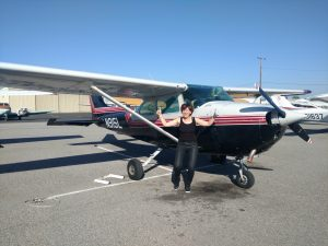 solo flight, cessna, 172