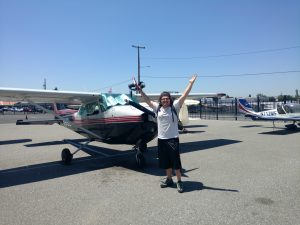 first solo, flight training, krhv