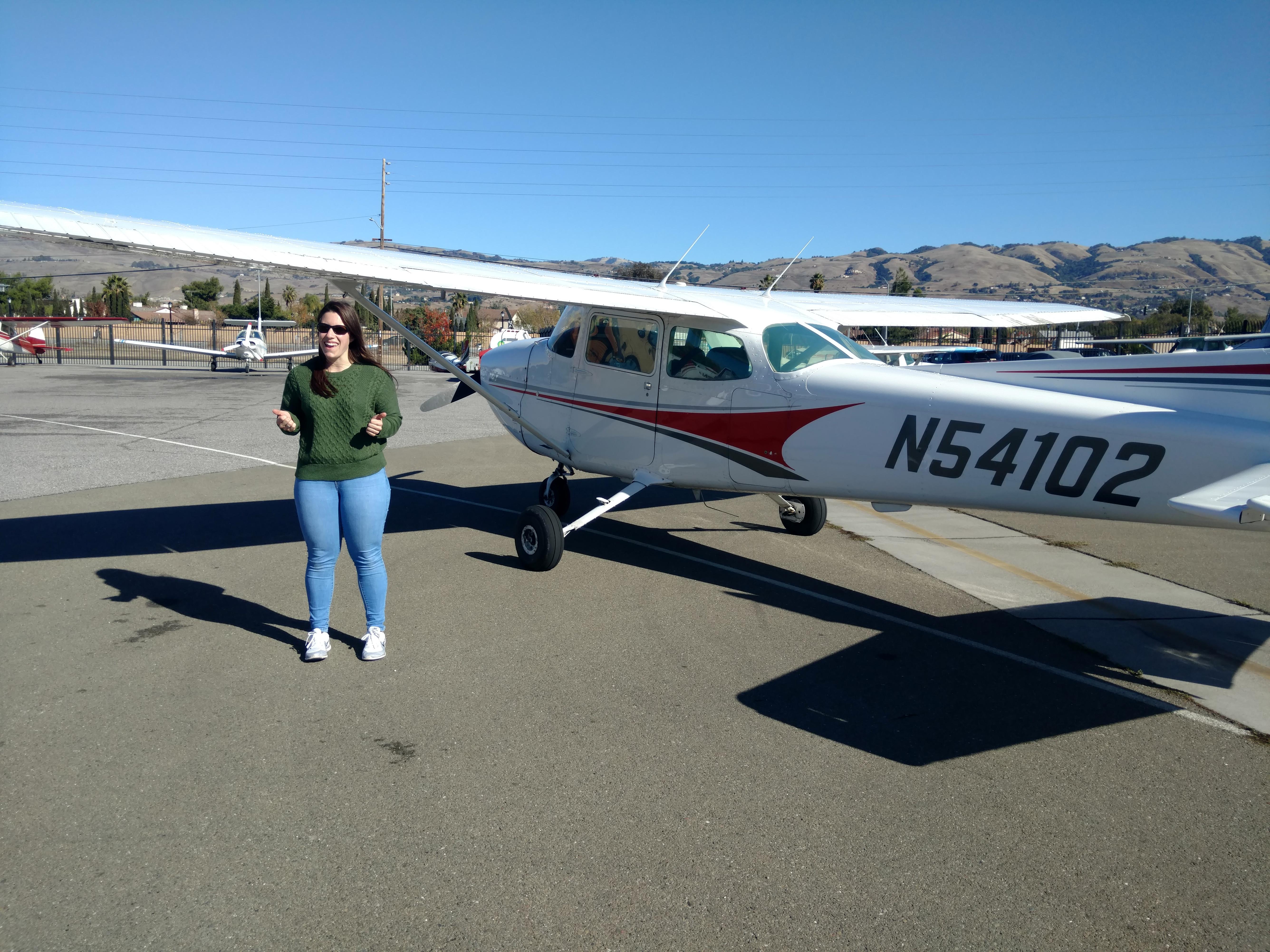 first solo, flight training, Cessna, San Jose