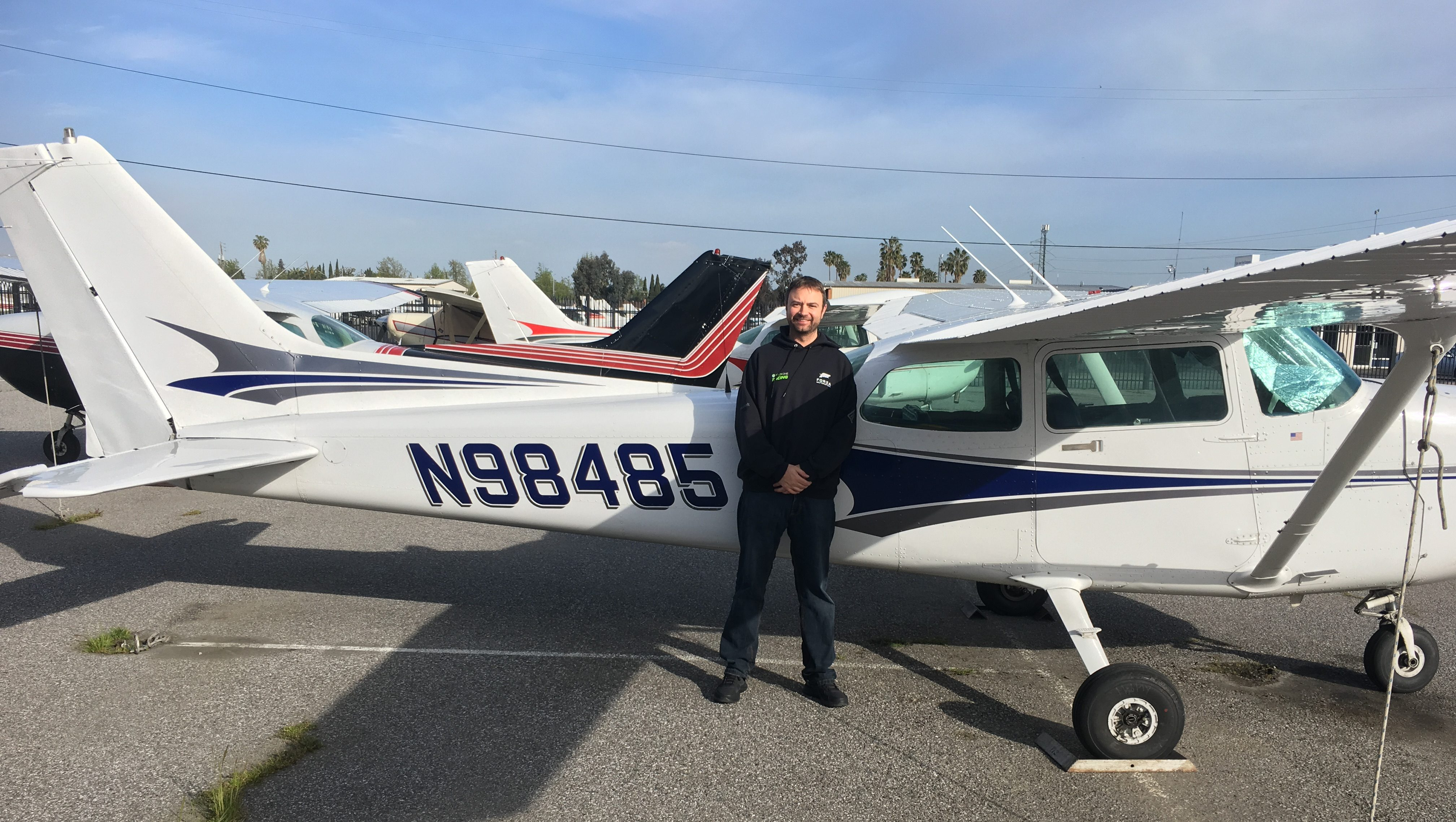 solo, flight training, N98485