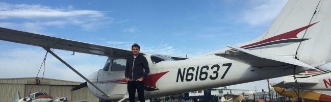 N61637, solo, flight training