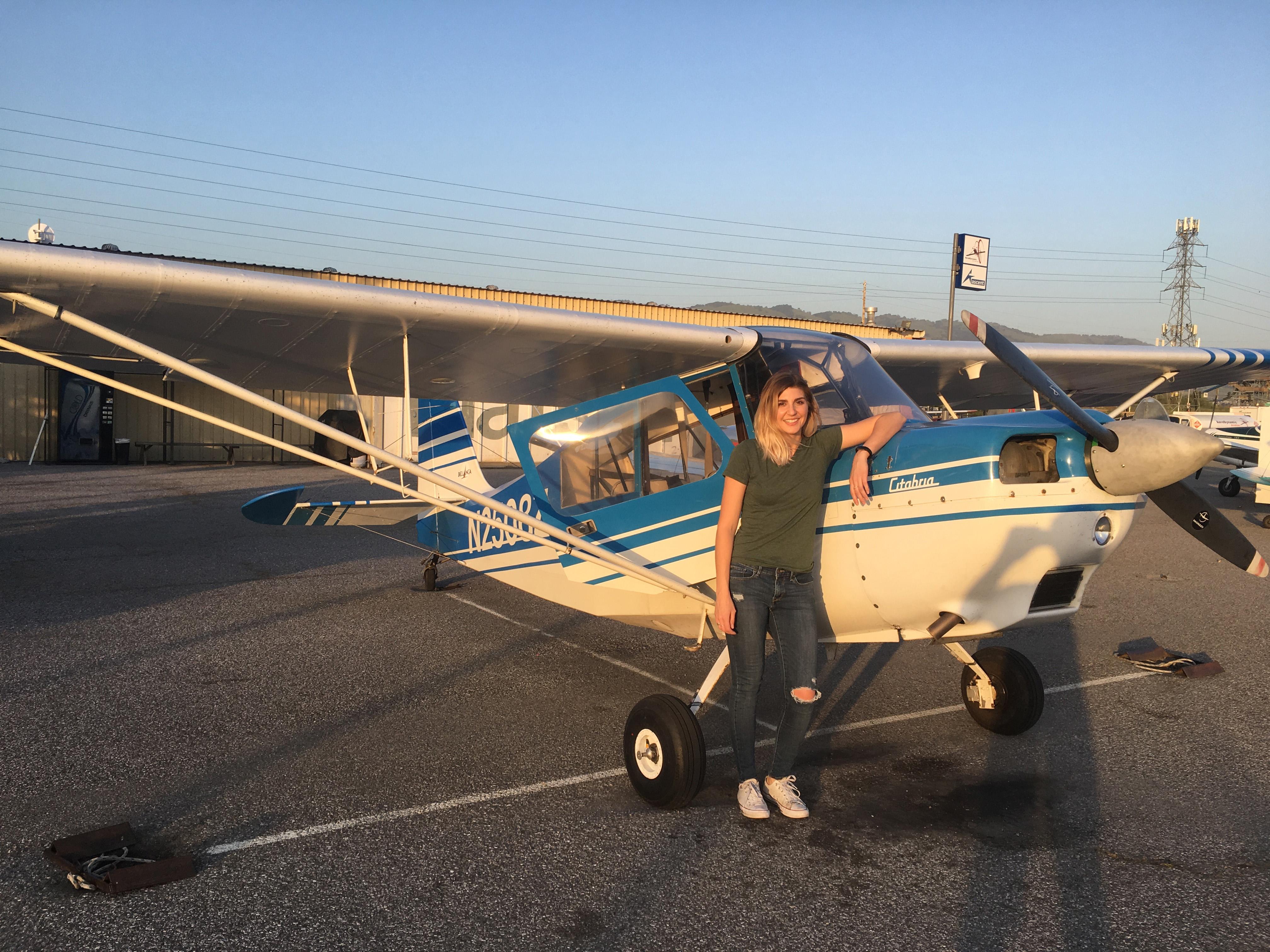 student pilot, solo, 7ECA, citabria