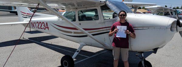 New Private Pilot – Katrina Espinoza