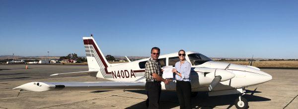 New Multi-Engine Pilot – Kelsey Moore
