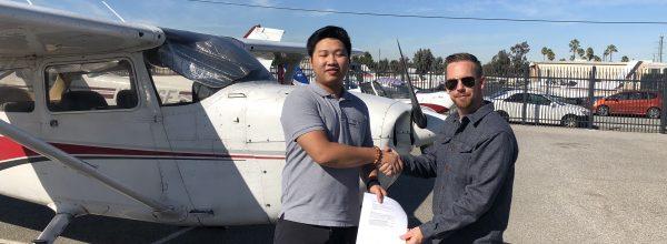 New Private Pilot – Zibin He