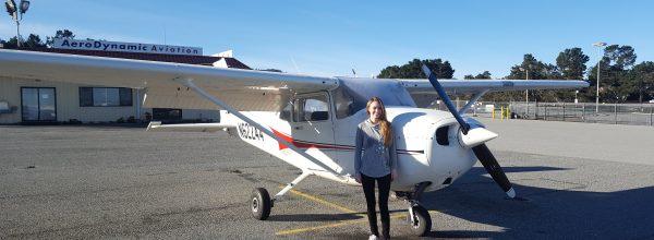 New Private Pilot – Liz Woodard