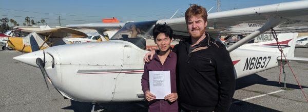 New Private Pilot – Yuchen Lin