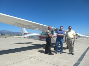 checkride, cessna, california