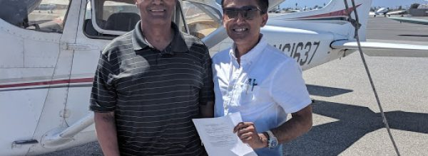New Private Pilot – Sean Bhattacharya