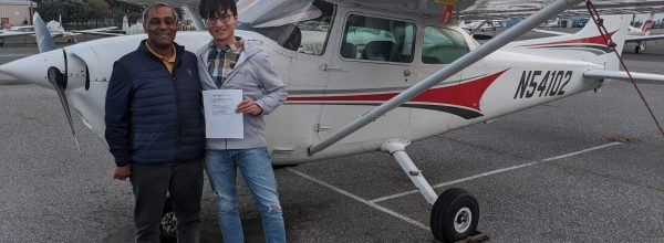 New Private Pilot – Yongzhen Qiu