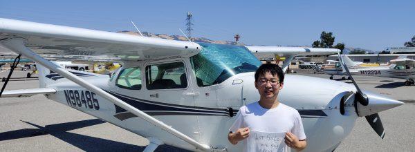 First Solo Flight – Wangcheng Kang