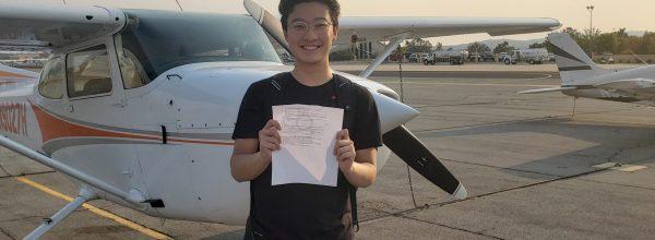 New Private Pilot – Matthew Liu