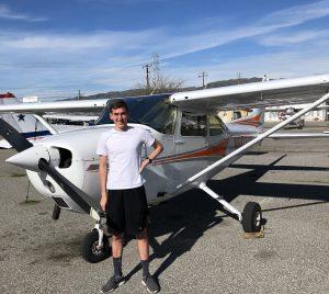 solo, flight, N9027H