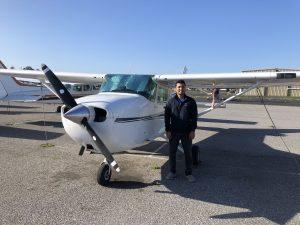 solo, flight, Cessna