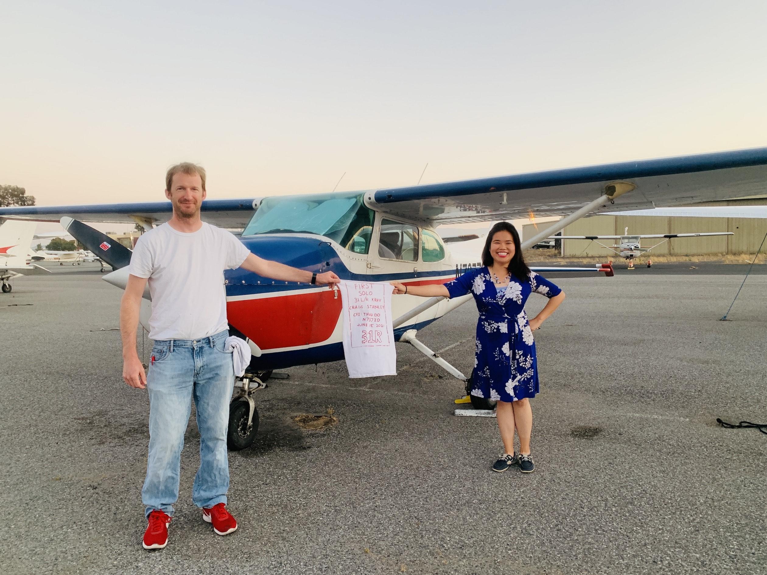 First Solo Flight – Craig Stanley