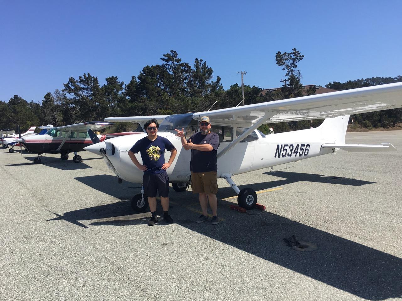 Monterey, flight, solo, pilot