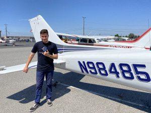 solo flight, C172, flight training