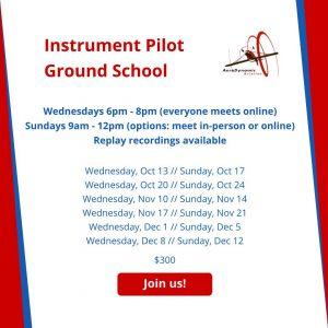 IFR, ground school, flight training
