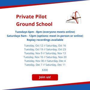PPL, ground school, aviation