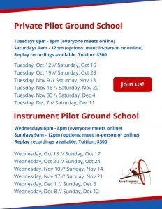 flight training, ground school, KRHV